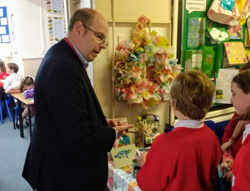 Peter Heaton-Jones MP at school…