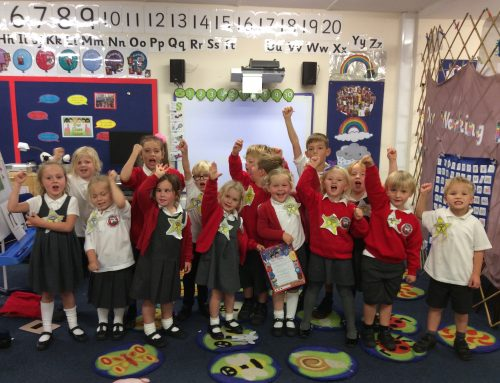 Class 1 learn all about staying safe on the computer with Super Protector, Sid!