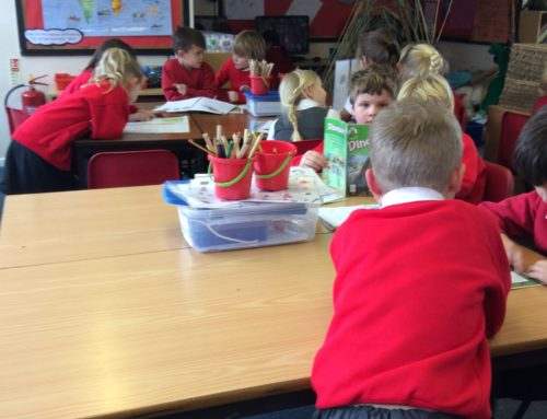 Class 1 and 2 peer reading session