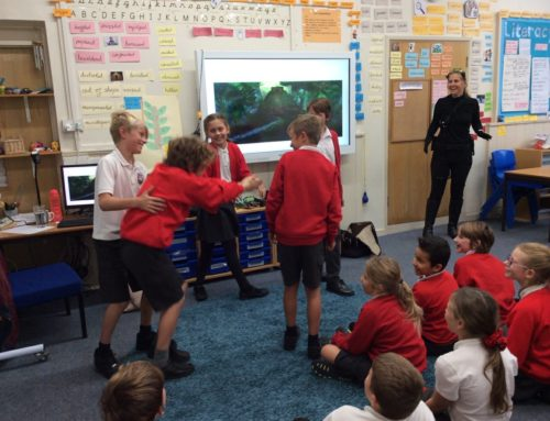 Author Tamsin Cooke visits Class 4…