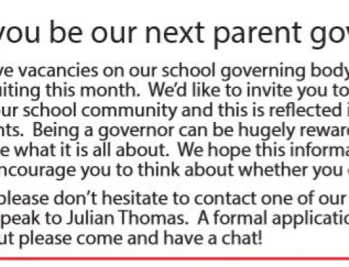 Could you be our next parent governor?